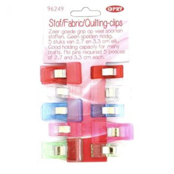 Opry Wonderclips, quilting-clips, stof clips, 10 stuks 2 maten