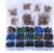 Doosje gevuld met 264 Veiligheidsoogjes 6-12 mm zwart 10 & 12 gekleurd