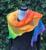 Regenboog punten omslagdoek