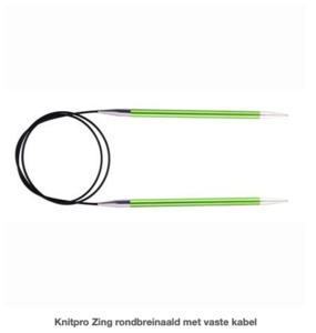 Knitpro Zing rondbreinaald  met vaste kabel