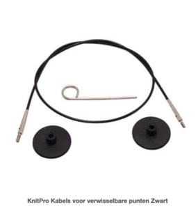 KnitPro Kabels voor verwisselbare punten Zwart