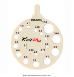 Knitpro breinaaldendikte meter, round view sizer