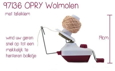 Wolwinder / wolmolen Opri rood wit