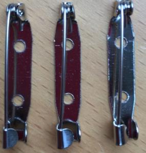 Broche speldjes 30mm (per 3 stuks)
