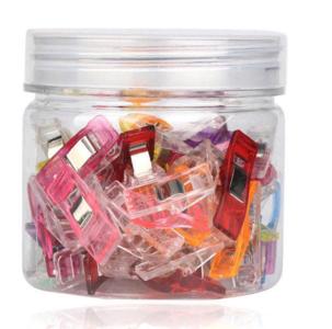 Potje met 50 Wonder clips: Knijpen en vasthouden, kleine knijpertjes - vervanging voor spelden voor naaien