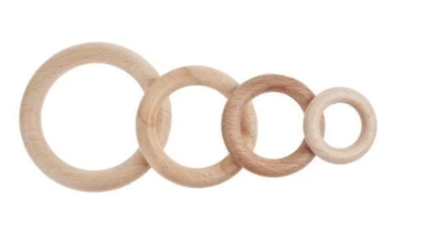 Blank houten ring, diverse maten