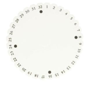 Kumihimo disc loom rond 13 cm
