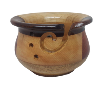 Yarn Bowl multi hout, 78574