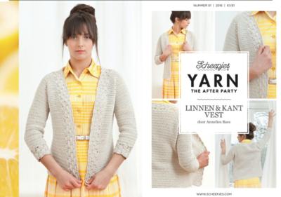 Scheepjes Yarn the afterparty 01 Linnen & kant vest door Annelies Baes