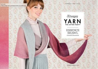 Scheepjes Yarn the afterparty 13 Essence shawl door Amanda Beaumont
