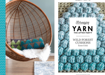 Scheepjes Yarn the afterparty 17 wild forest cushions door Esme Crick