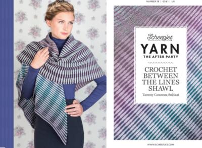 Scheepjes Yarn the afterparty 18 Crochet between the lines shawl van Tammy Canavan-Soldaat