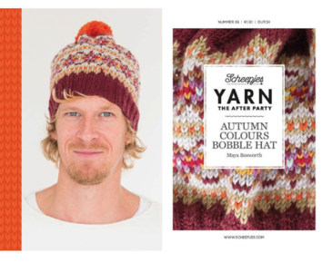 Scheepjes Yarn the afterparty 35 Autumn Colours Bobble hat door Maya Bosworth
