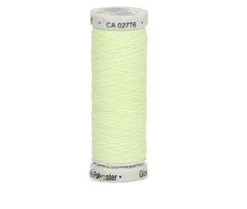 Gutermann Sulky glow 40 kleur 7, licht groen, glow in de dark naaigaren