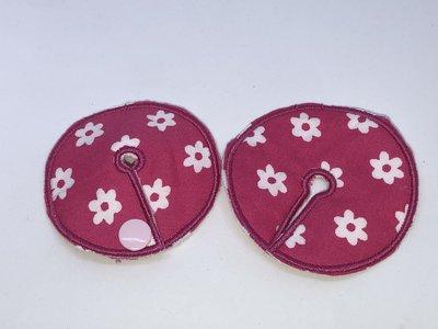 Sonedpad roze met witte bloemen