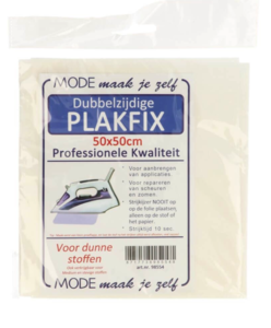 Plakfix dubbelzijdig fijn50x50 cm, dubbelzijdige vlieseline