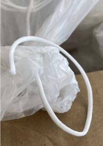 Wit rond elastiek ca. 4 mm, mondkapjes elastiek, prijs per meter