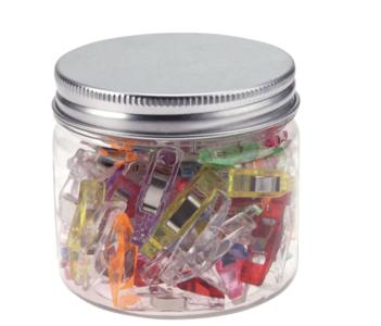 Potje met 50 kleine Wonder clips: Knijpen en vasthouden, kleine knijpertjes - vervanging voor spelden voor naaien
