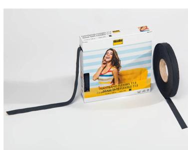 Vlieseline Naadband flexibel 15mm zwart - 50m
