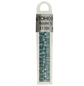 Toho Glaskralen rond 8-0 - 4g - 1206 groen blauw