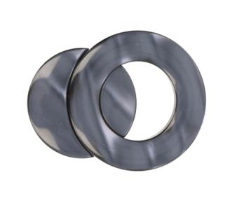 Deze magnetische sluiting wordt gebruikt om vesten, sjaals en poncho's te sluiten. Het glanzende oppervlak glinstert als p