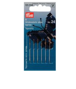 Prym Borduurnaalden zonder punt 0.80x37mm zilver nr 24