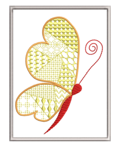 Borduurmachine patroon: Kaart vlinder