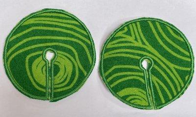 Sondepad groen met strepen