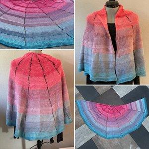 Patroon: Gebreide fade sjaal Wendy